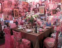 A little much  LOL  Fifi and Foo foo live here.  If you put actual rose colored shades on, you may leave without a headache