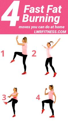 Four moves that naturally help to speed up your bodies ability to burn off excess body weight. Do each move for 1 minute making a quick 4 minute weight loss workout routine. Excellent weight loss info are offered on our website. Check it out and you wont Fitness Workouts, Sport Fitness, Health Fitness, Body Fitness, Workout Routines, Fitness Equipment, Workout Tips, 4 Minute Workout, Fitness Weights