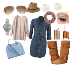 """""""Daytime Chic"""" by michelle-durham-odo on Polyvore featuring Michael Kors, Rusty, Ray-Ban, maurices, Minnetonka, Olivia Burton, Accessorize, Charlotte Tilbury, LORAC and Essie"""