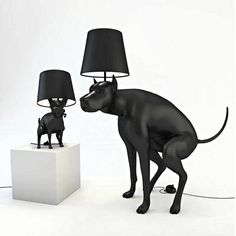 """The Good Boy and Good Puppy lamps are by a UK artist and designer who simply goes by the moniker """"Whatshisname"""". Designed for the Art Below exhibition in London, they were ultimately banned for being """"too offensive"""". They're available in limited editions of 100 (Good  Boy) and 200 (Good Puppy). Mostly, the fact that you have to step on a turd (something I generally try my utmost to avoid) to turn the light on makes me giggle."""