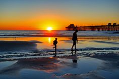 Father and Son at Sunset at Oceanside  by Rich Cruse, via 500px #Photography