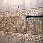 Consider this necessary graphics in order to visit today guidance on Pretty Bathroom Ideas Hall Bathroom, Bathroom Flooring, Washroom, Bathroom Ideas, Shower Floor, Walk In Shower, Pebble Tile Shower, Java, Backsplash