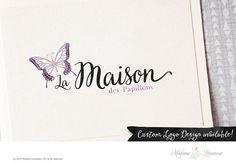 premade logo design butterfly logo etsy shop by MadameLevasseur
