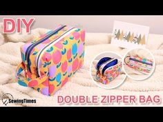 Diy Pouch Tutorial, Coin Purse Tutorial, Tutorial Pochette, Bag Patterns To Sew, Tote Pattern, Sewing Patterns, Pouch Bag, Tote Bag, Pouches