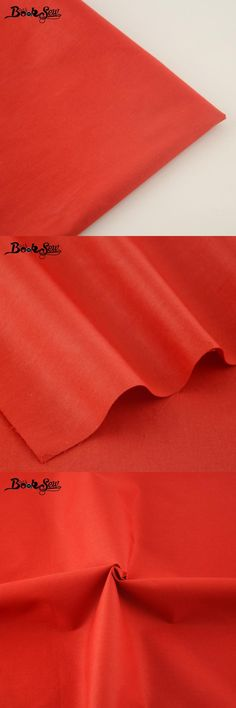 [Visit to Buy] 100% Cotton Twill Fabric Classic Red Solid Color Cloth Home Textile Material  For Sewing clothes Dolls Bed Sheet Patchwork #Advertisement