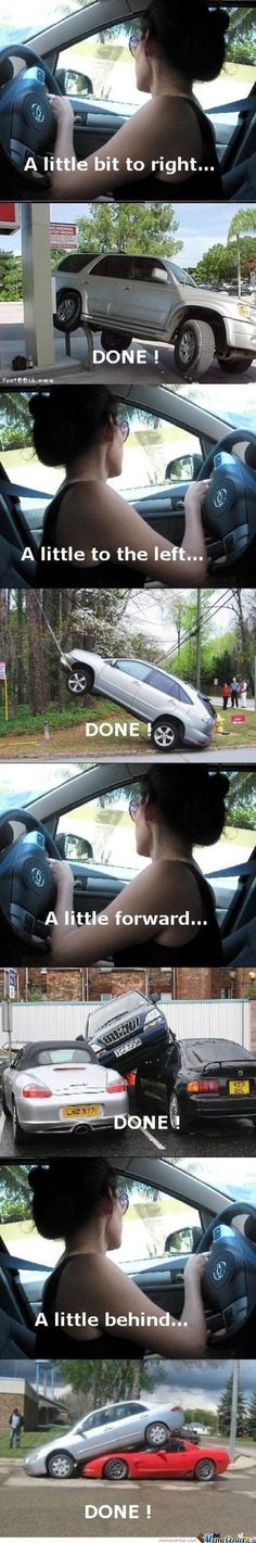 Women Parking - I resent this...but its still pretty funny