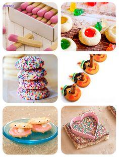 6 recetas de galletas divertidas. Recetas divertidas de galletas infantiles: galletas en forma de cerilla, galletas ostra, galletas Pinocho, galletas con gominolas y mucho más.