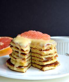 Grapefruit and Yogurt Pancakes