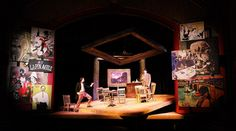 Picasso at the Lapin Agile. Set design by Shawn Fisher.
