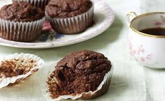 Fudgy Chocolate Banana Flax Muffins / Photo by Ellen Silverman http://www.epicurious.com/recipes/food/views/fudgy-chocolate-banana-flax-muffins