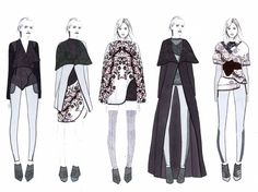 Fashion Sketchbook - fashion illustrations; lineup; fashion portfolio // Shima Khanom