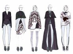 Fashion Sketchbook - fashion illustrations; lineup; fashion portfolio // Shima Khanom