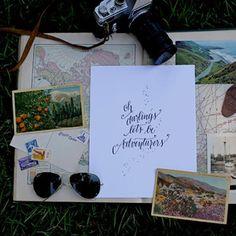 letterpress adventurers print, design roots