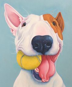 William the English Bull Terrier painting