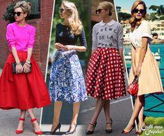 Midi Skirt | Saia Midi | Ladylike | Cadê Meu Chapéu? | http://www.cademeuchapeu.com/