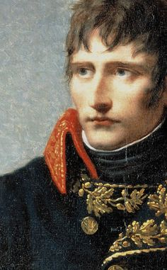 Andrea Appiani: Portrait of Napoleon Bonaparte. c. 1801. Detail. There are several similarities between this work and Bonaparte crossing the Alps by David. Appiani was present in Paris between May and December 1801, so it is possible he saw David's painting.