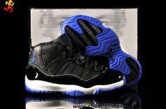 Buy Kids Air Jordan 11 Black Blue Fashion Shoes Shop