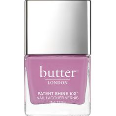 butter LONDON Patent Shine 10X Nail Lacquer, Fancy 0.4 oz (11 ml) ($18) ❤ liked on Polyvore featuring beauty products, nail care, nail polish, beauty, nails, shiny nail polish, gel nail varnish, gel nail color, fancy nail polish and opaque nail polish