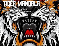 Tiger Illustration, Graphic Design Illustration, Adobe Illustrator, Mandala, Behance, Profile, Abstract, Gallery, Drawings