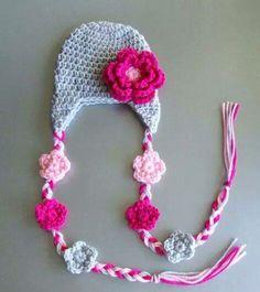 Gorra cadena de flores