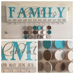 Family Birthday Board . Family von WonderfullyMadeDecor auf Etsy