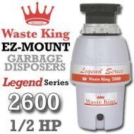 Waste King Garbage Disposal L 2600 1 2 Hp Ez Mount Legend Series Garbage Disposer Model 2600 Waste Garbage