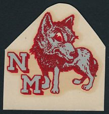 Adrian Brashier  adrianbrashier  on Pinterest University of New Mexico RARE 1940 s College Decal VTG Lobos Louie Mascot  UNM D1