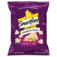 Smartfood Parmesan Garlic Flavored Popcorn, 7 oz Bag: Have a taste of Smartfood Parmesan Garlic Flavored Popcorn. It's the perfect blend of rich parmesan cheese with the savory kick of zesty garlic seasoning. Popcorn Snacks, Flavored Popcorn, Cheese Popcorn, Smartfood Popcorn, Low Calorie Snacks, Garlic Parmesan, Sandwich Cookies, Corn Syrup, Liqueurs