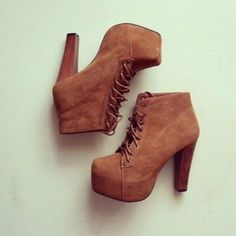 shoes boots fall outfits brown high heels wood brown shoes ankle boots platform lace up boots heels suede boot high heel booties high heel boots pumps booties beige lace up High Heel Boots, Suede Boots, Ankle Boots, Heeled Boots, Bootie Boots, Boot Heels, High Shoes, Tan Booties, Ankle Heels