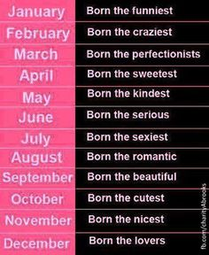 Feb the craziest and July the sexiest?? Well, that sounds about right!!