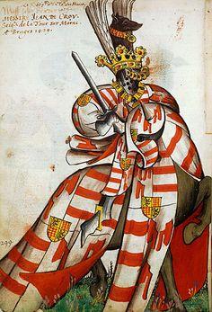 Jean de Croÿ, Grand Armorial équestre de la Toison d'Or, Flandres, 1430-1461.