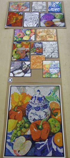 complete higher expressive folio A Level Art Sketchbook, Sketchbook Ideas, Fruit Painting, Art Case, Expressive Art, High School Art, Ap Art, High Art, Book Projects