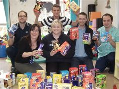 Thanks to Boots and Sainsbury's for the donations of Easter Eggs for the children's ward at Queen's Hospital, Burton-on-Trent.