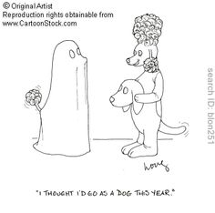 'I thought I'd go as a dog this year' poodle humor