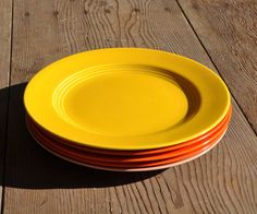 Harlequin Plate 9 Lunch 1938  1964 Original Yellow by FabsAndFaves