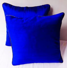 Royal Blue throw pillows18X18 inch decorative cushion covers - custom made avialable in range of colours