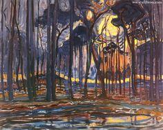 "Piet Mondriaan ""Woods near Oele"""