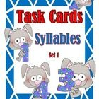 Students will complete the task cards on syllables.  The task cards can be used to review syllables.  Place the cards in your literacy stations so ...