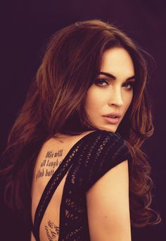 Megan Fox Lettering Tattoo