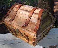Wooden treasure chest by Arlene lined with by NauticalTreasures on Etsy  http://www.etsy.com/listing/62391290/wooden-treasure-chest-by-arlene-lined?ref=tre-2018853456-9