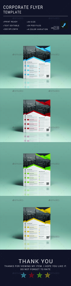 Corporate Business Flyer Design Template - Corporate Flyer Template PSD. Download here: https://graphicriver.net/item/corporate-flyer-template/17707690?ref=yinkira