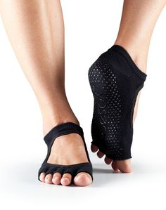 Half Toe Bella Grip Socks $16.00. Ballet-inspired, barely there, barefoot experience. For all barefoot activities like barre, Pilates, yoga, and dance  Patented non-slip grip keeps your feet in place Half toe design lets toes touch surface for a more barefoot experience Five toe design allows toes to move and spread naturally Hygienic alternative to bare feet Arch support band gently lifts and supports Fitted heel keeps sock in place to eliminate bunching and twisting Made with organic…