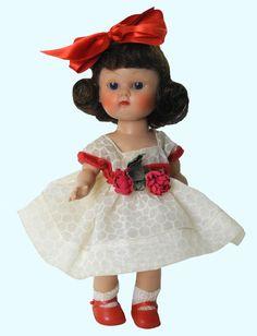 """8"""" BRUNETTE GINNY -VOGUE MY KINDERCROWD DRESSES  PLW 1954 # 24...ALL ORIG"""