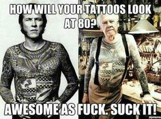 Ageing tattoo