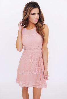 Blush Lace Dress - Dottie Couture Boutique Classy Outfits, Cute Outfits, Classy Clothes, Dress Skirt, Lace Dress, Dottie Couture Boutique, What To Wear, Style Me, Fashion Dresses