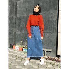 Modern Hijab Fashion, Street Hijab Fashion, Muslim Fashion, Modest Fashion, Skirt Fashion, Fashion Outfits, Modest Outfits Muslim, Korean Fashion, Casual Hijab Outfit