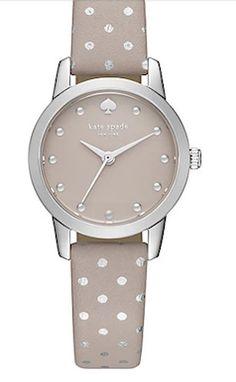 Kate Spade metallic polka dot wrist watch