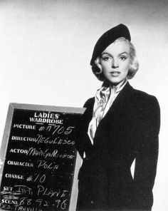 Marilyn Monroe costume test for 'How to Marry a Millionaire', 1953.  Costume design by Travilla.