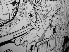 Doodles on Behance Street Graffiti, Graffiti Art, Street Art, Office Mural, Office Art, Mural Art, Wall Art, Doodle Wall, Notebook Doodles