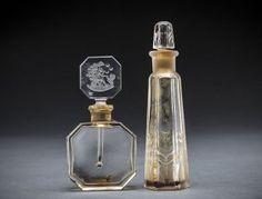 Vintage Czech & Frh Clear Glass Perfume Bottle, C. 1930